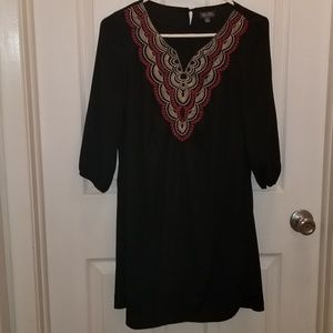 Black embroidered Lily Rose dress